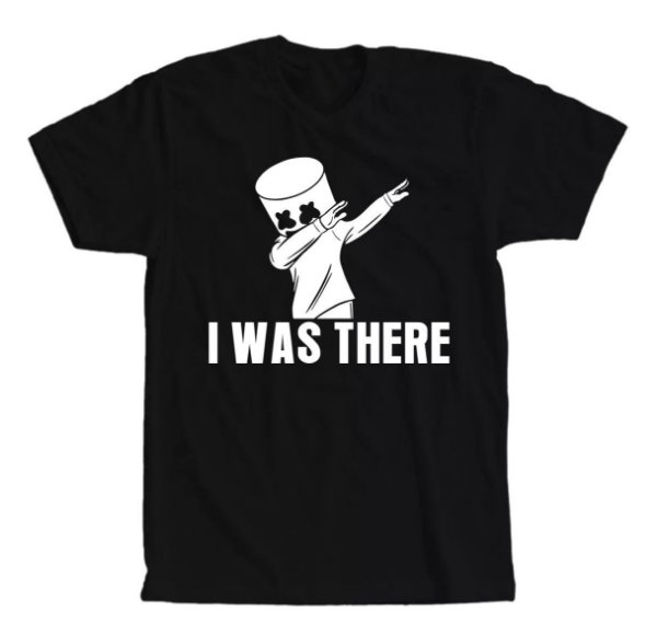Camiseta Dj Marshmello I Was Here