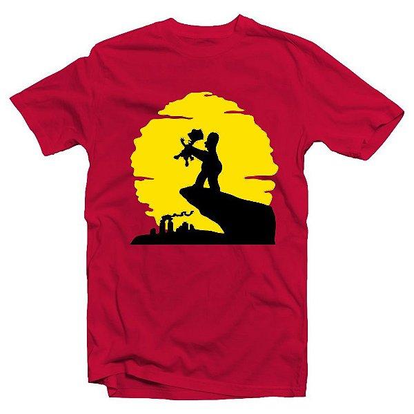 Camiseta Os Simpsons Rei Leão