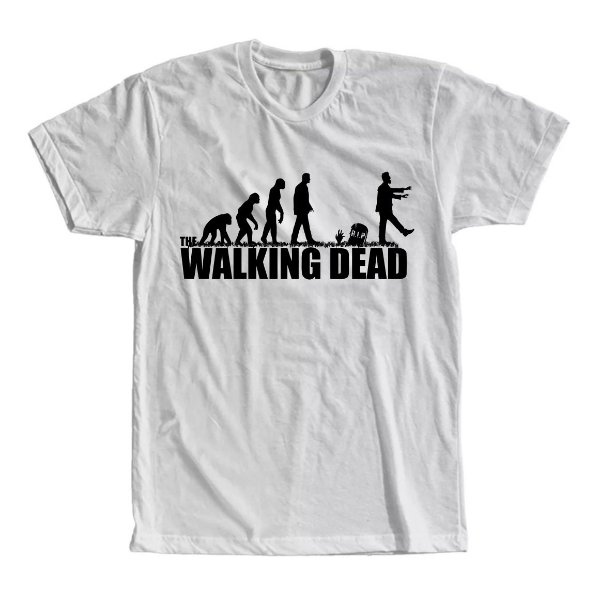 Camiseta The Walking Dead Evolução