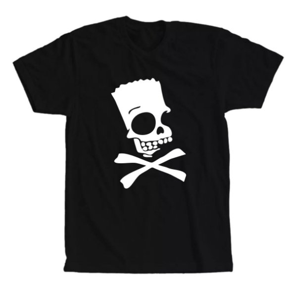 Camiseta Bart Simpsons Caveira Perigo