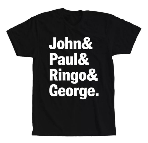 Camiseta The Beatles John, Paul, Ringo e George