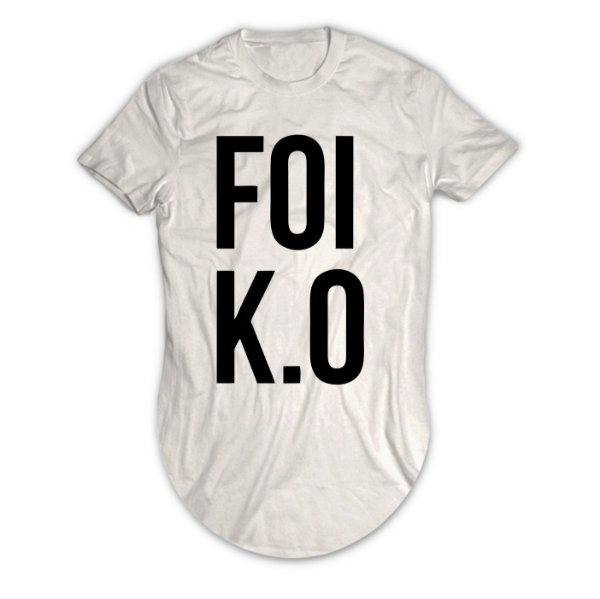 Camiseta Longline Foi K.O