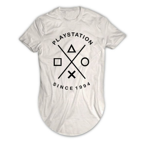 Camiseta Longline Playstation Since 1994