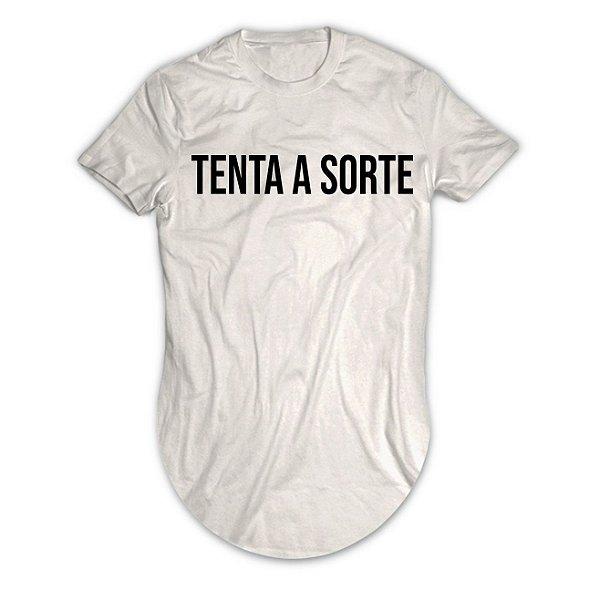 Camiseta Longline Tenta Sorte