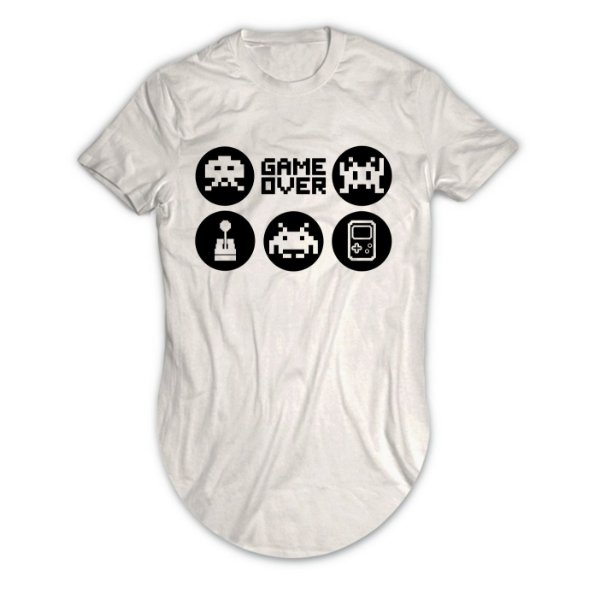 Camiseta Longline Game Over