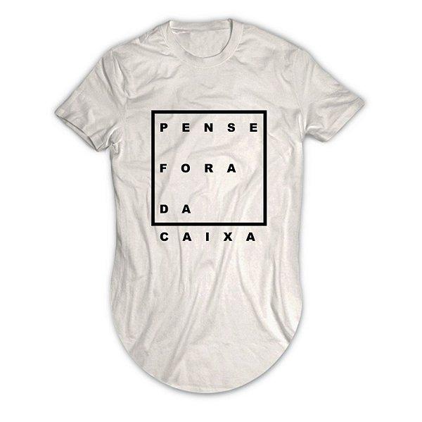 Camiseta Longline Pense Fora da Caixa
