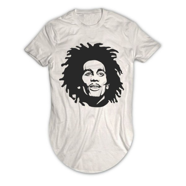 Camiseta Longline Bob Marley No Woman, No Cry