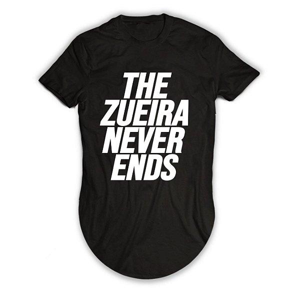 Camiseta Longline The Zueira Never Ends