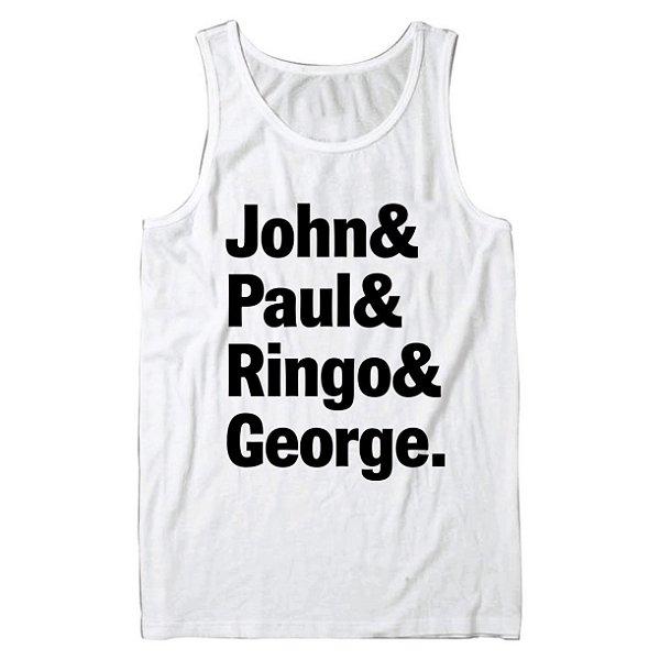 Regata Masculina The Beatles John, Paul, Ringo e George