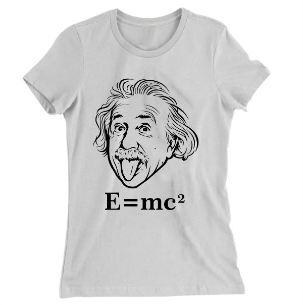 Camiseta Baby Look Albert Einstein E=me2