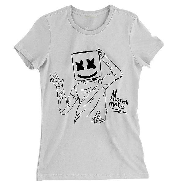 Camiseta Baby Look Dj Marshmello Ok