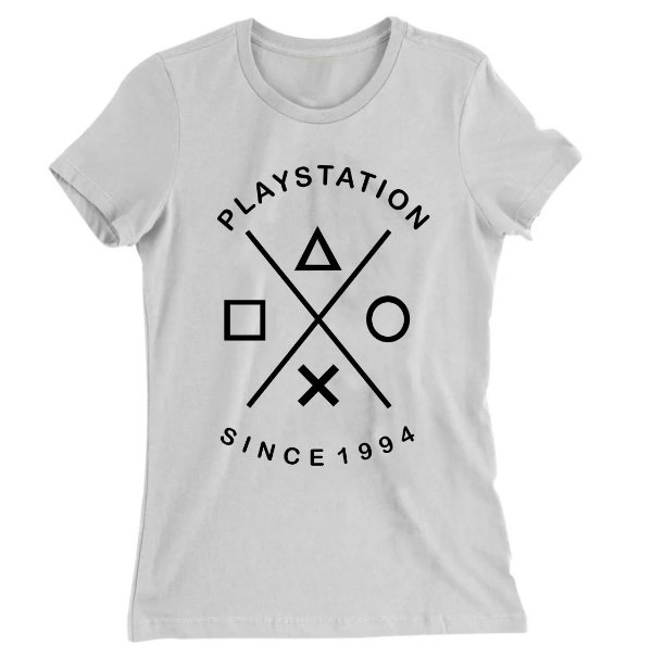Camiseta Baby Look Playstation Since 1994