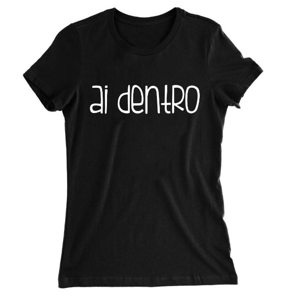 Camiseta Baby Look Ai Dentro