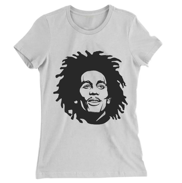 Camiseta Baby Look Bob Marley Bob Marley No Woman, No Cry