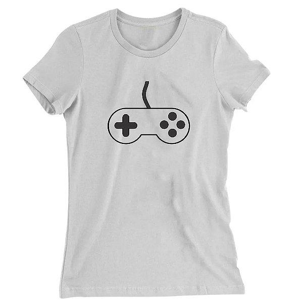 Camiseta Baby Look Controle do Game