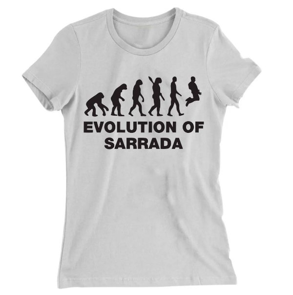 Camiseta Baby Look Evolution Of Sarrara