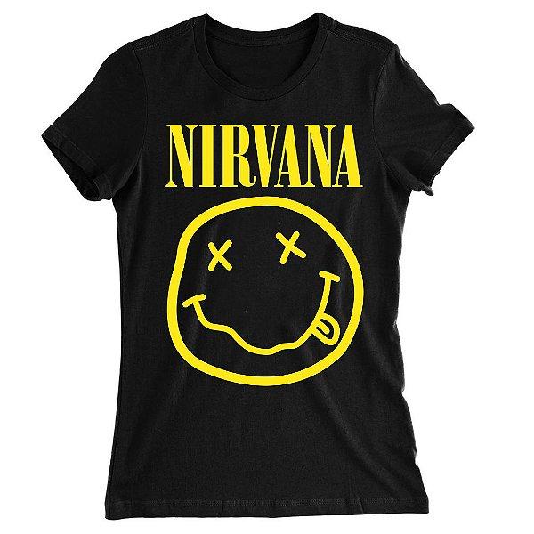 Camiseta Baby Look Nirvana