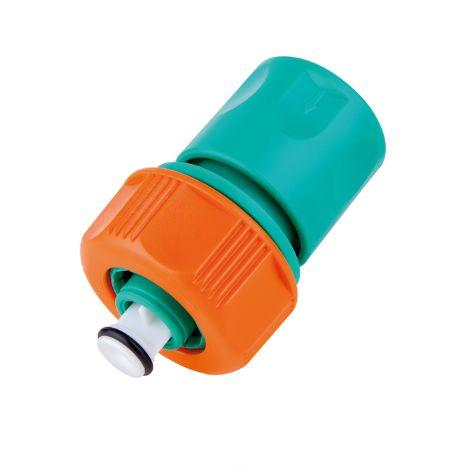 """Engate Rápido com Aquastop Tramontina em Plástico para Mangueira 5/8"""" e 3/4"""""""