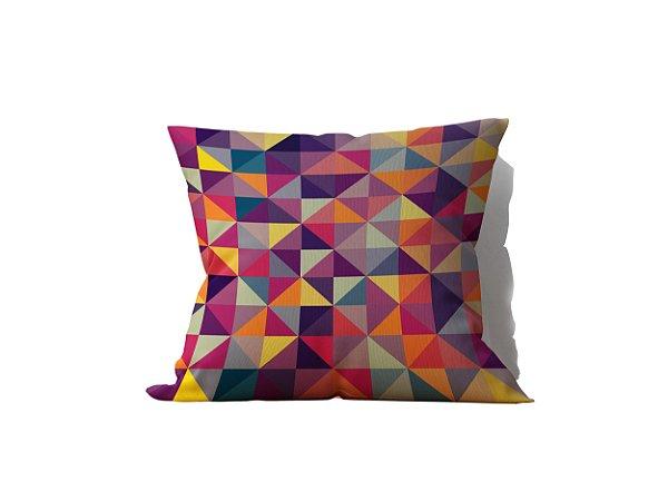 Capa de Almofada decorativa avulsa estampa Geometrica Multicolorida - 45x45cm