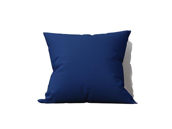 Capa de Almofada decorativa avulsa Lisa Azul Escuro - 45x45cm
