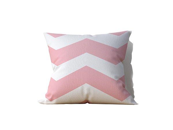 Almofada decorativa White & Soft Pink - 45x45cm - by AtHome Loja