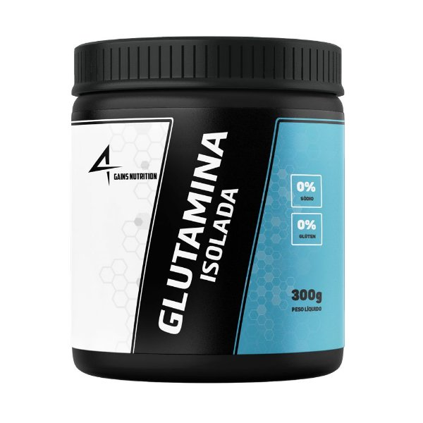 Glutamina Isolada 300g 4Gains Nutriton