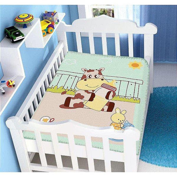 Cobertor Infantil Jolitex Raschel - Meu Leitinho - 90 cm x 1,10 m  - Ref.: 62006