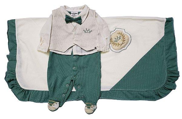Saída Maternidade verde rei - Tam. RN - Fofinho - Ref.: 121024