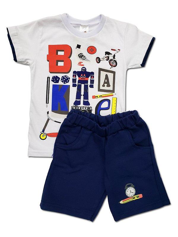Conjunto camiseta manga curta e shorts - Tam. 1 e 2 - Leb - Ref.: 19751