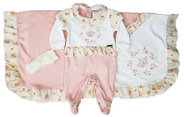 Saída maternidade 03 peças - Tam. RN - Fofinho - Ref.: 121013
