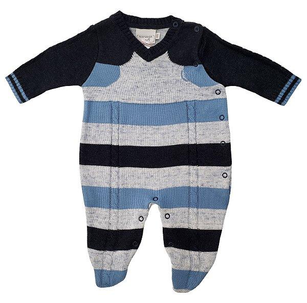 Macacão de linho Azul - Noruega - Ref.: 120362