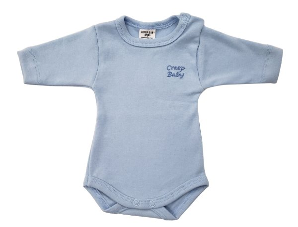 Body manga longa Prematuro Azul - Suedine - PP - Ref.: 39545