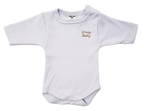 Body manga longa Prematuro branco - Suedine - PP - Ref.: 39545