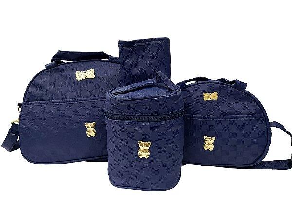 Bolsa maternidade 4 peças térmica Azul - Mave Baby - Ref.: 105354