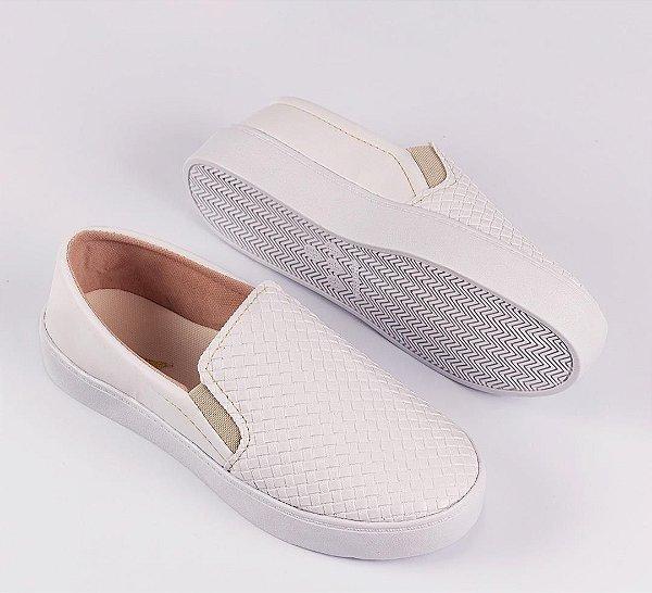 Tênis Slip-on Branco Confort