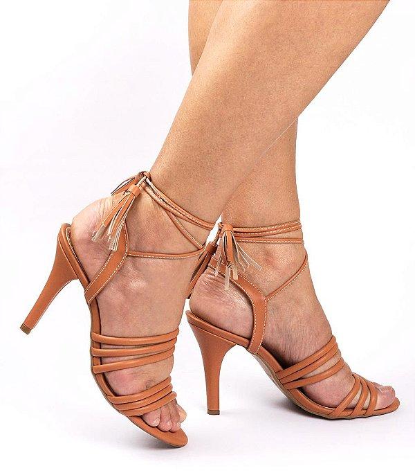 Sandália de Salto Luxury Caramelo 9 cm