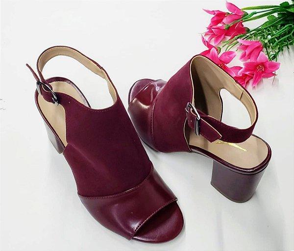 Ankle Boot Marsala Salto 7 cm