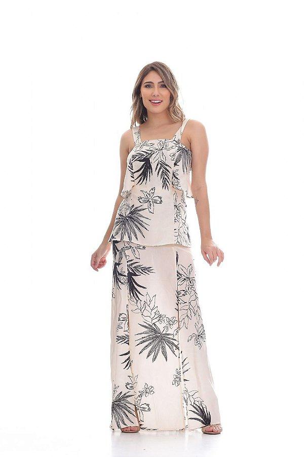 Vestido Clara Arruda longo recortes 50401