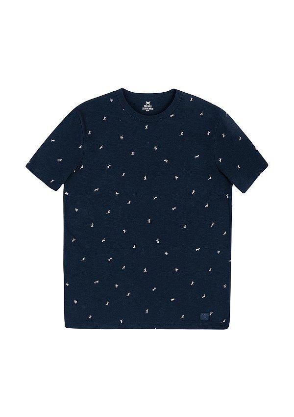 Camiseta Masculina Em Malha Algodão