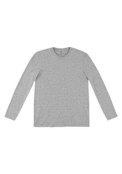 Camiseta Masculina Básica Em Malha Algodão