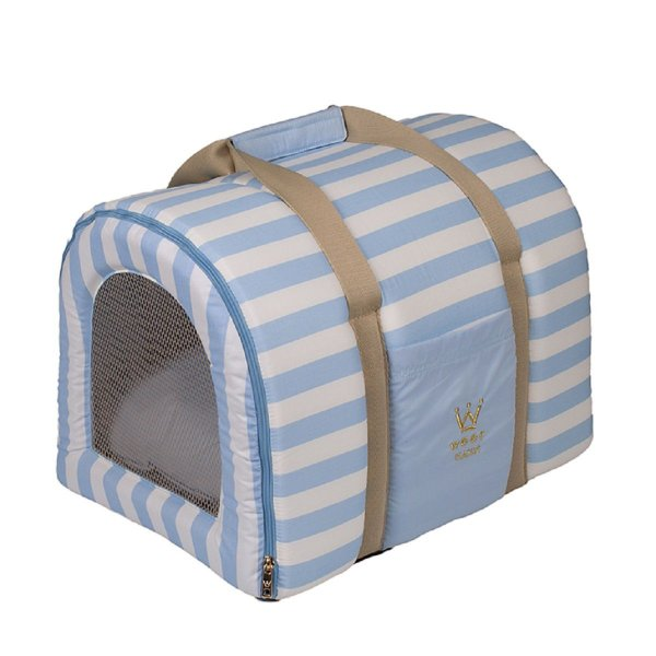 Bolsa Transporte Cachorro Tela R0119 Azul Claro Woof Tam Úni