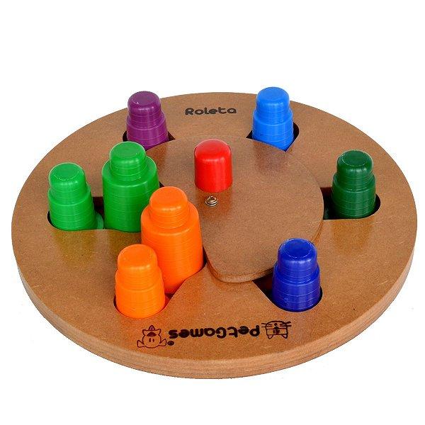 Brinquedos Pet Tabuleiro Roleta Porta Petisco Tamanho Único