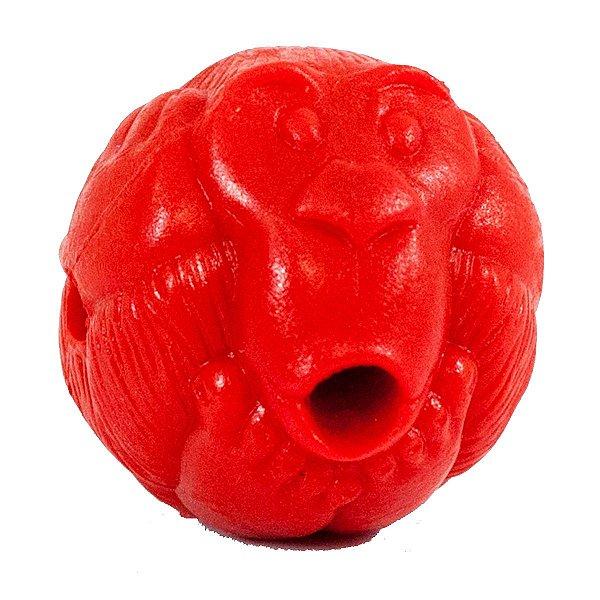 Brinquedo de Cachorro Macaquinho Porta Petisco Vermelho