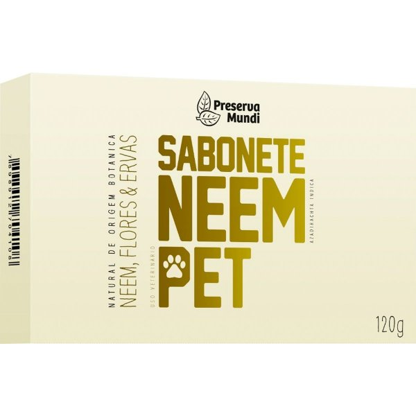 Sabonete Cachorro Repelente Natural Neem Pet Preserva Mundi