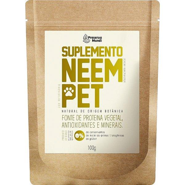 Suplemento Cachorro Natural em Pó Neem Pet Antioxidante