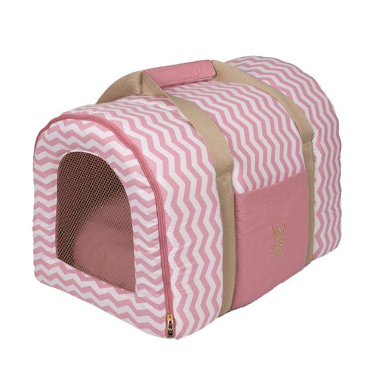 Bolsa Transporte Pet Tela R0126 Rosa Woof Classic Tam Único