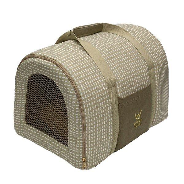 Bolsa Transporte Pet Tela R0128 Caqui Woof Classic Tam Único
