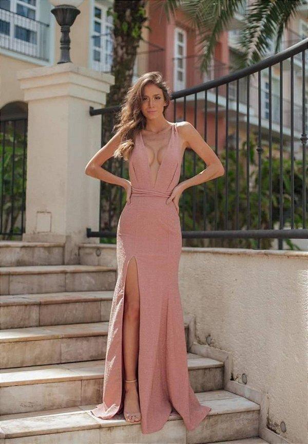 Vestido Paula Rosa