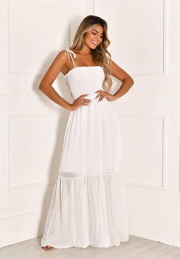 Vestido Busto Lastex Branco