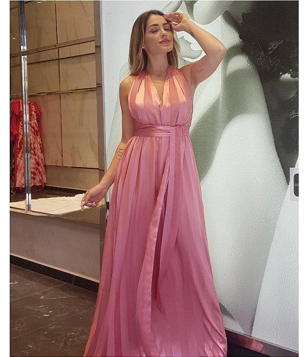 Vestido Tamanho Único Rosa